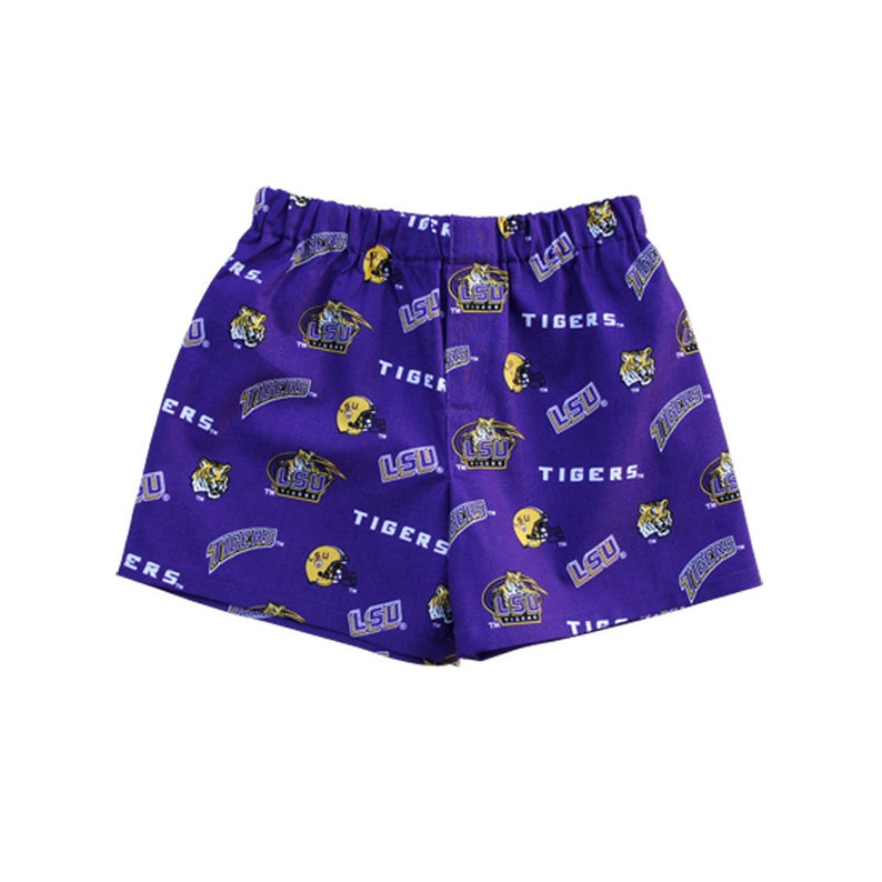 Collegiate Fans Toddlers Boxers Shorts LSU Shorts Louisiana State University Clothing LSU Tiger Fans cotton Boxers