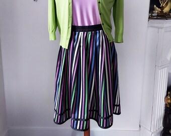 Spooky Stripe Skirt in Halloween Colors