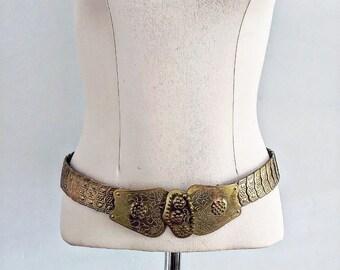 Bohemian Style 70s Brass Belt