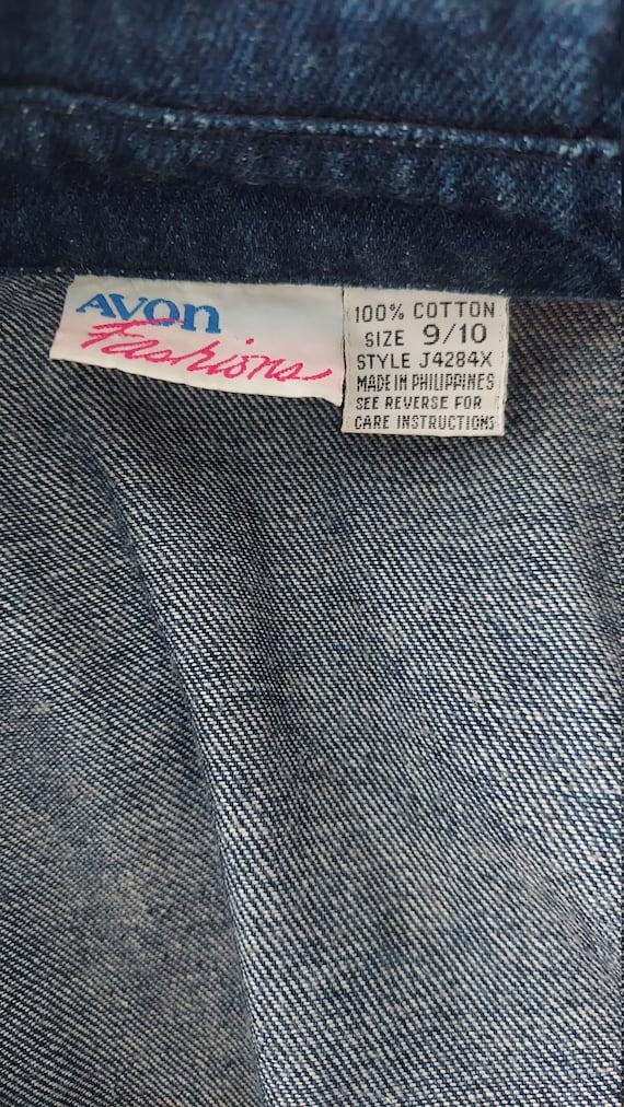 1980s Dark Wash Denim Dress with Loads of Pockets - image 6