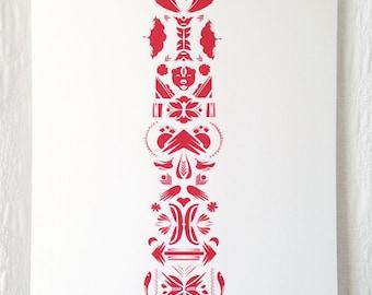 Totem Screen Print