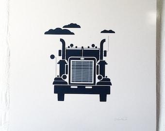 Semi Truck Print