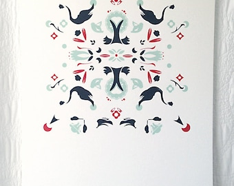 Swan Rorschach Screen Print