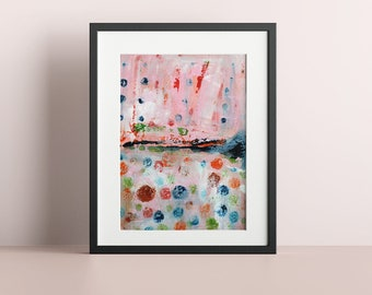 Abstract Art Prints, Living Room Wall Art, Unframed Home Office Print - Dopamine Hit