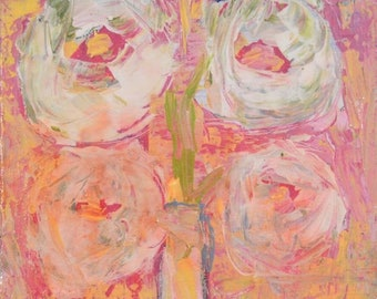White Roses Flower Painting No 291
