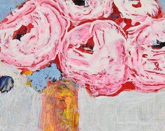 Pink Roses Floral Painting No 71 - Katie Jeanne Wood