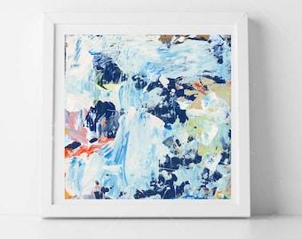 Blue Abstract Print, Modern Wall Decor, Blue Abstract Painting Print, Abstract Wall Art
