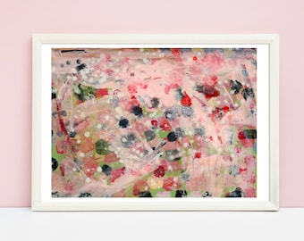 Abstract Painting Bedroom Unframed Print, Canvas Prints, Large Living Room Prints, Modern Art