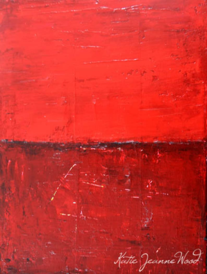 Red Acrylic Abstract Art Abstract Office Painting Home Wall image 0