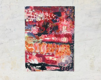 Clearance sale - Small Acrylic Abstract Original Painting - Diversity