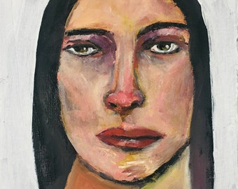 Disgusted Woman Portrait Painting Unframed Wall Art Prints - Ya Can't Fix Stupid