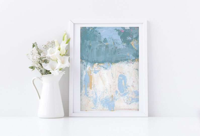 Large Modern Abstract Unframed Painting Print Gift for image 0