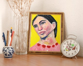 Unframed Woman Painting Print - If You Were Here You'd Know What To Do