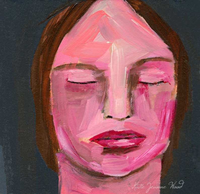 Small Acrylic Portrait Painting image 0