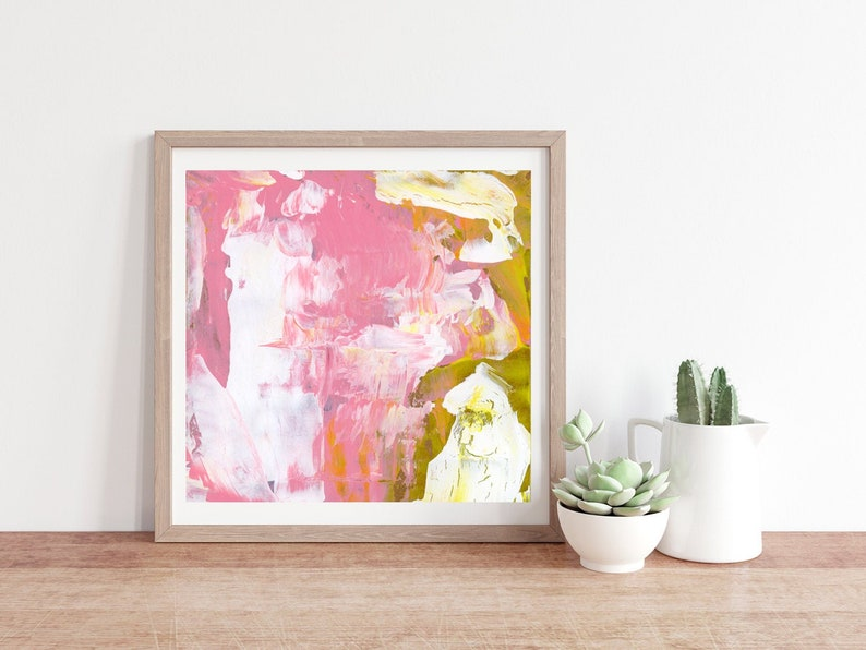 Light Large Abstract Apartment Wall Decor Unframed Living image 0