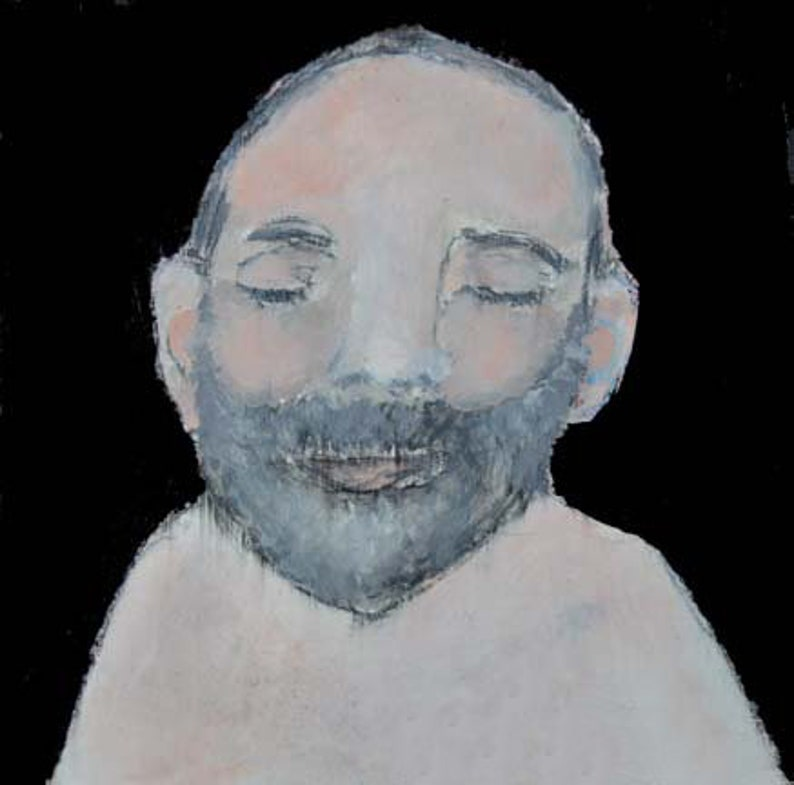 Meditating Spiritual Guru Portrait Painting Print. Buddhist image 0