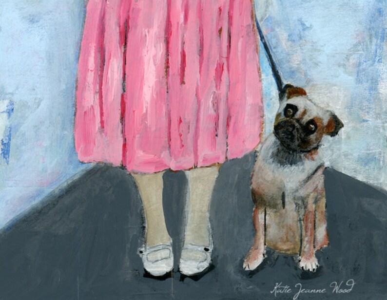 Pet Dog Portrait Painting Print  Animal Lover Gift image 0