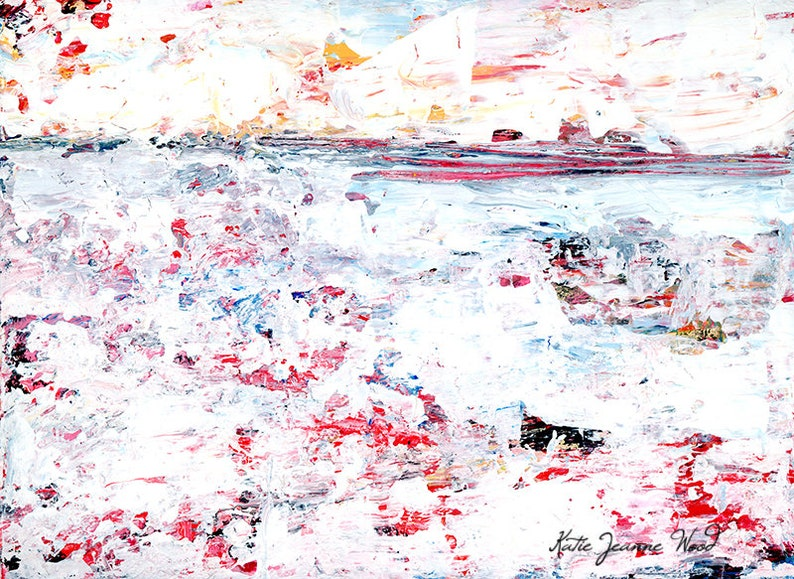 Gift Idea For Couple Abstract Painting Print Wedding Gift No image 0