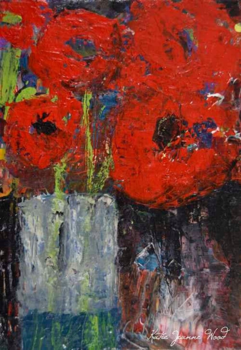 Poppy Flower Painting Print No 56 image 0