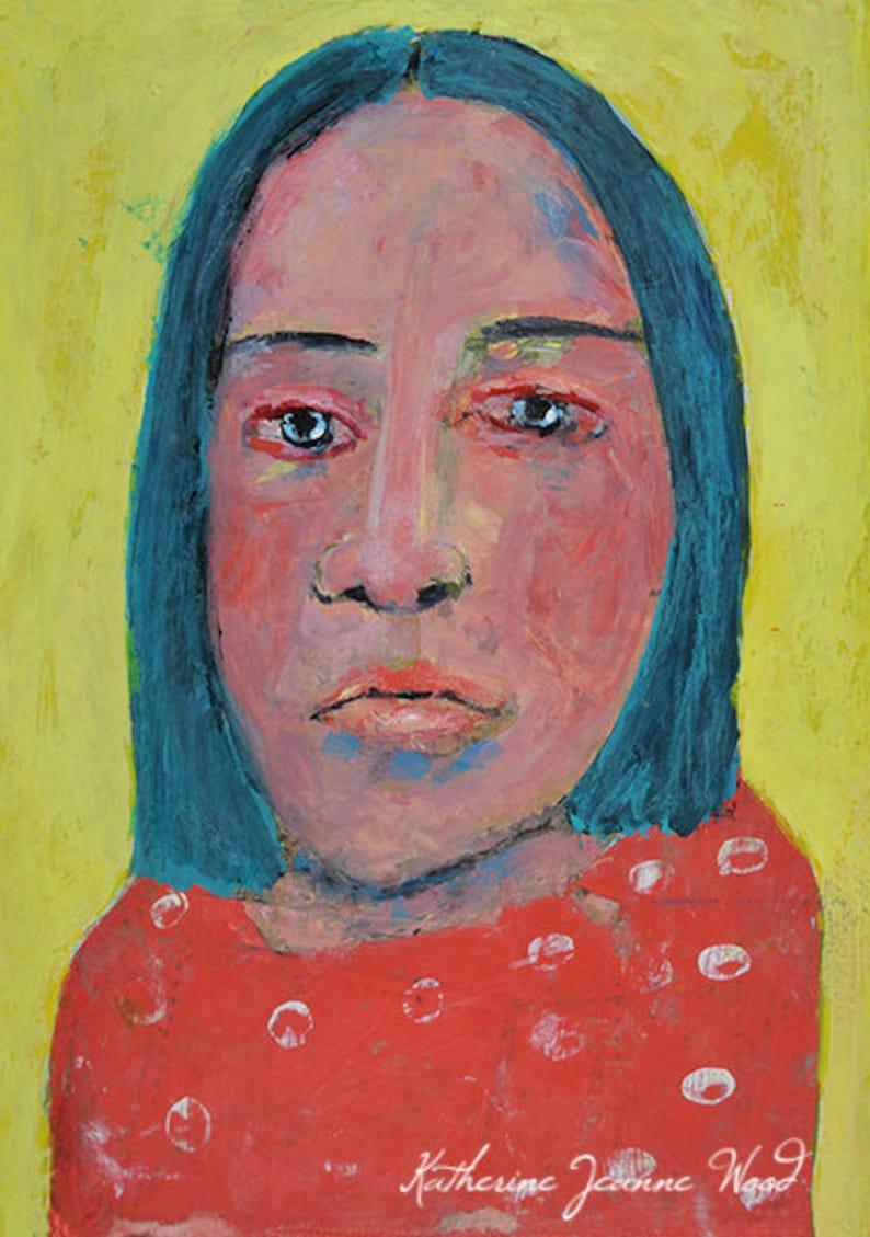 Painting Original  Sad Woman Portrait image 0