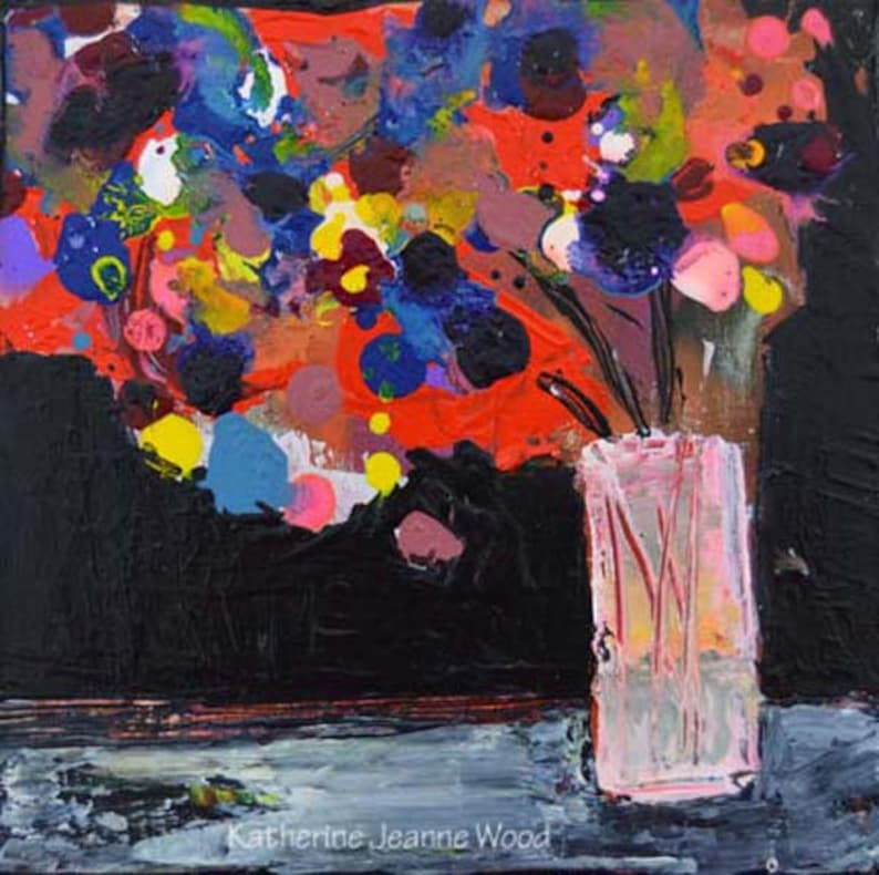 Colorful Acrylic Abstract Flower Painting No 49 image 0