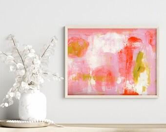 Shabby Chic Abstract Art Prints, Living Room Wall Art, Home Office Print, Unframed Farmhouse Print - Stuck Inside