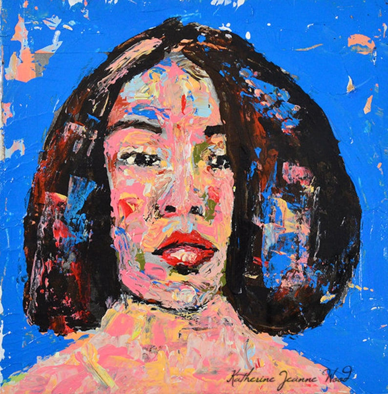 4x4 Palette Knife Portrait Commissioned Painting From Photo image 0