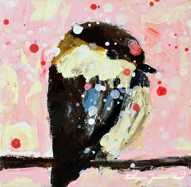 Shabby Chic Decor Bird Prints  Cute Birthday Gifts. 93 image 0