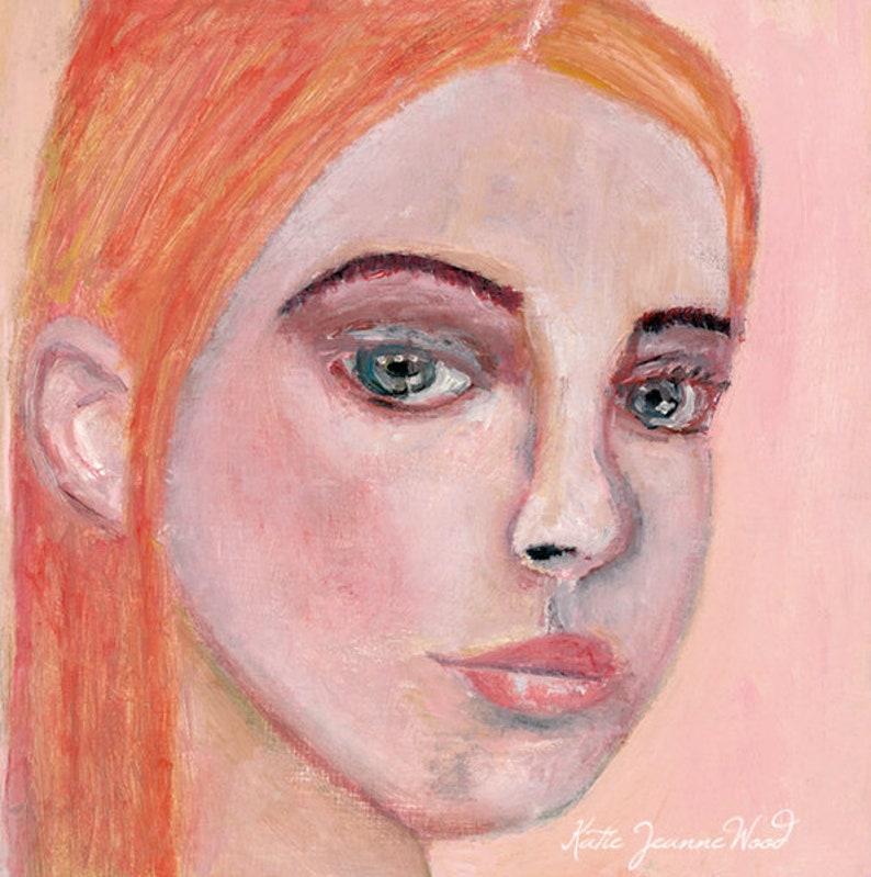 Artsy Gift for Women Original Oil Painting Woman Portrait image 0