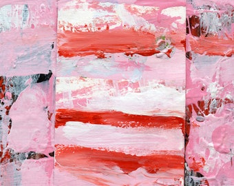Pink Cottage Chic Abstract Painting - Sweet Like Candy