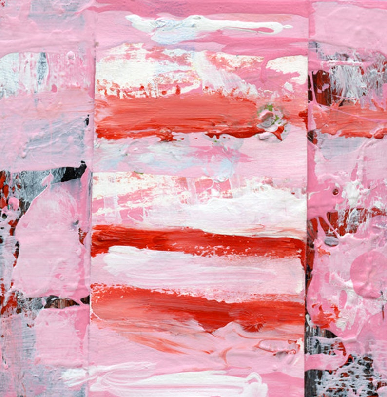 Pink Cottage Chic Abstract Painting  Sweet Like Candy image 0