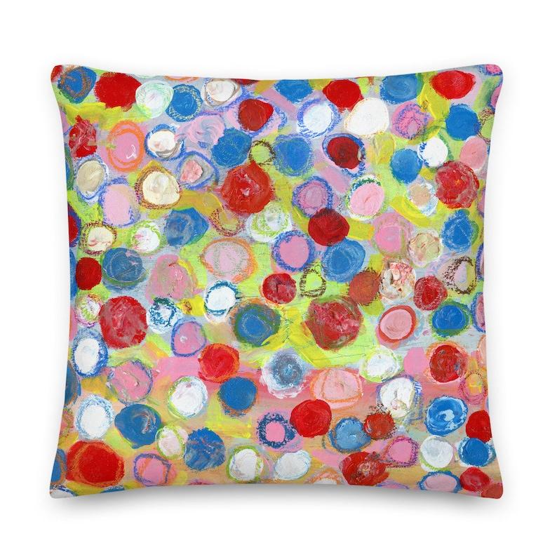 Polka Dot Throw Pillow for Living Room or Bedroom image 0