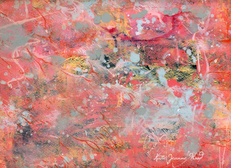 Colorful Pink Abstract Art Prints  Perfect for Guest Room No image 0