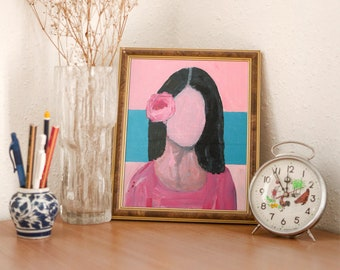 Unframed Small to Large Prints, Canvas Prints, Faceless Woman Portrait Painting Print - Invisible