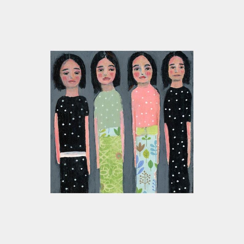 Sisters Bear Witness Art Gift Figure Painting image 0