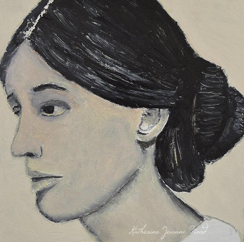 Black & White Virginia Woolf Print image 0