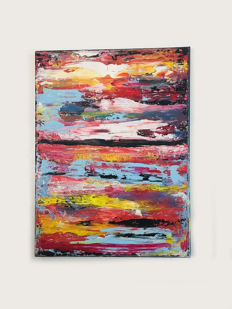 Rainbow Colors Acrylic Abstract Painting image 0
