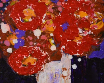 Red Roses Flower Painting No 76 - Katie Jeanne Wood