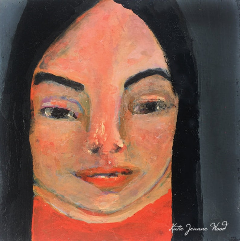 Acrylic Female Portrait Painting  More Power image 0