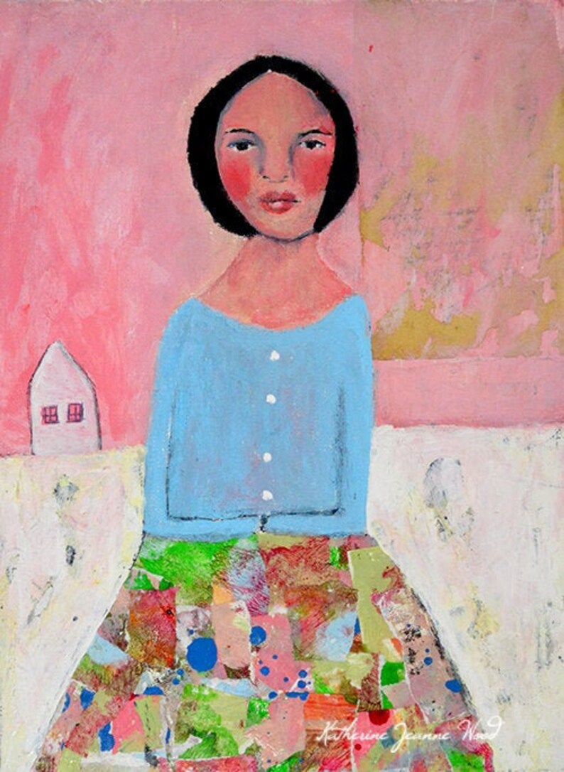 Colorful Skirt  Acrylic Figure Painting image 0