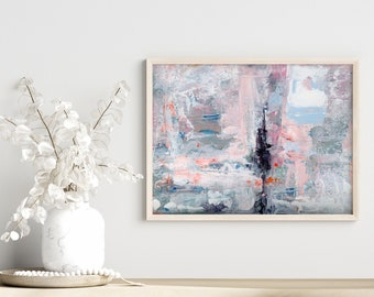Modern Farmhouse Abstract Unframed Painting Print on Paper or Canvas Print