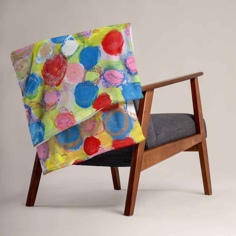 Polka Dot Throw Blanket for Living Room Couch Sofa or Bedroom image 0