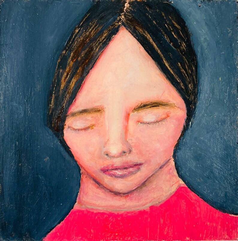 Original Girl Portrait Oil Painting Portrait Art Katie image 0