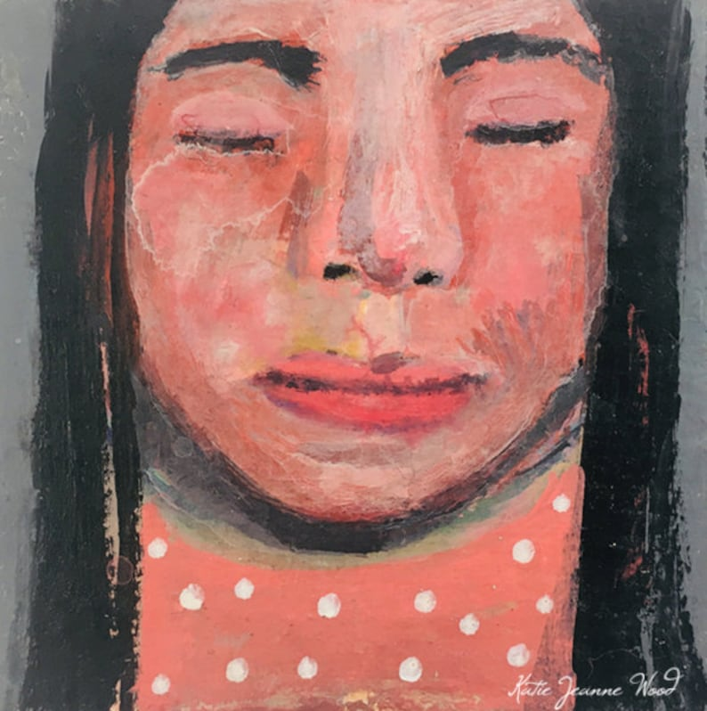 Acrylic Female Portrait Painting  Everybody Knows image 0