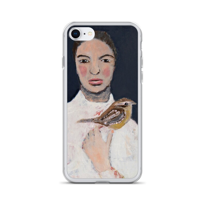 iPhone SE Phone Case  Woman & Bird Artwork Release me Now image 0