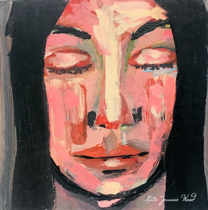 Acrylic Portrait Raw Miniature Painting image 0