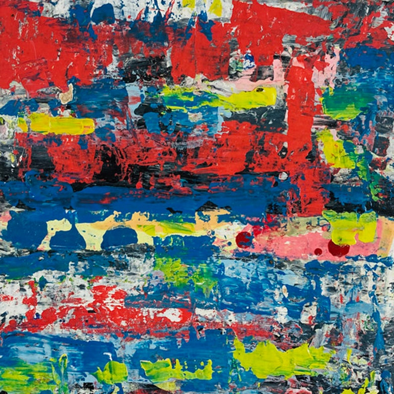 Clearance sale  Blue & Red Abstract Painting  Trapped Energy image 0