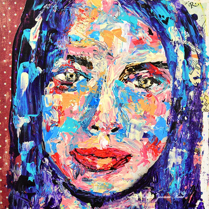 5x7 Palette Knife Portrait Painting From Photo image 0