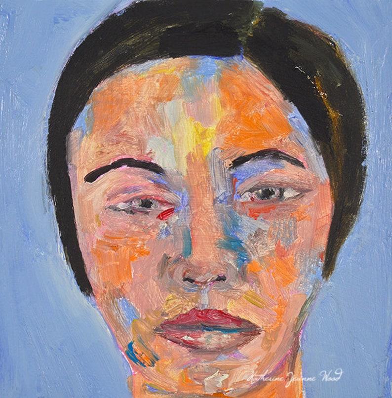Impressionist Oil Painting. Fine Art Painting. Woman Portrait image 0