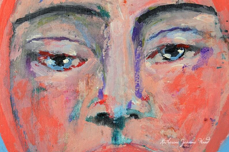 6x6 Custom Acrylic Portrait Painting From Photo image 0